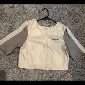 Two-Tone Crop Top